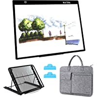 A3 LED Light Pad, HOHOTIME Dimmable LED Tracing Light Box with Carry Bag, USB C Cable, Stand, Light-Up Tracing Pad for…