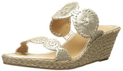 ffda4e9463dc Jack Rogers Women s Shelby Wedge Sandal Platinum 5 ...