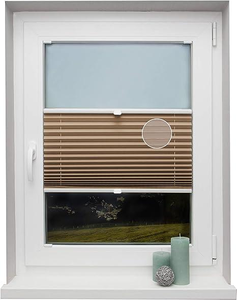 Estor plegable a medida, en diferentes colores, para todas las ventanas, montaje en el marco del cristal, opaco, cappuccino, Breite: 151 - 160 cm, Höhe: 151 - 200 cm: Amazon.es: Hogar