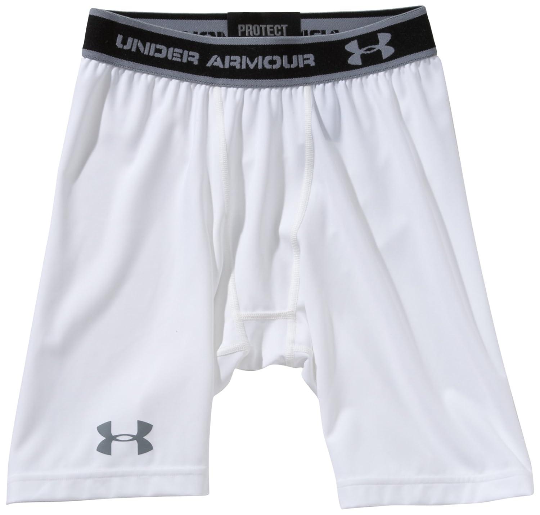 Sports Apparel Under Armour Mens HeatGear Compression 7 Shorts Small White 1232684 1232684-100/_SM