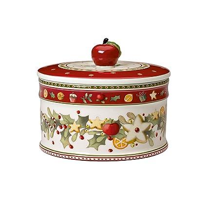 Villeroy & Boch Winter Bakery Delight Caja mediana para pastas, Porcelana Premium, Blanco/