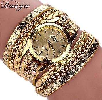 Limpieza de venta! Relojes para mujer, reloj ICHQ para mujer, reloj de pulsera de limpieza, relojes de mujer, relojes de mujer en venta de cuero: Amazon.es: ...