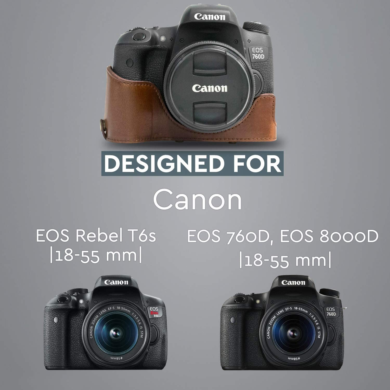 MegaGear Ever Ready - Funda Protectora de Piel para cámara Canon ...