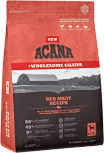 ACANA Wholesome Grains Dry Dog Food, Red Meat and Grains, Beef, Pork, and Lamb, Gluten Free, 4lb