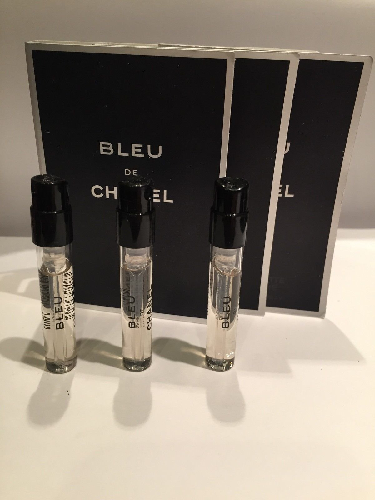 Lot of 3 C H A N E L Bleu De 1.5ml EDT Sample Sprays For Men