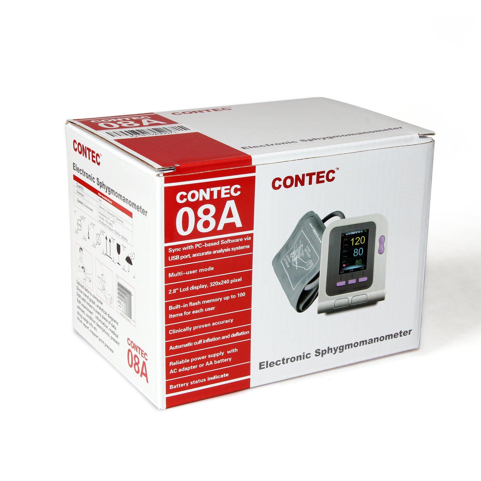 CONTEC08A-VET Digital Veterinary Blood Pressure Monitor NIBP Cuff,Dog/Cat/Pets (CONTEC08A-VET with 3 Cuffs) by CONTEC