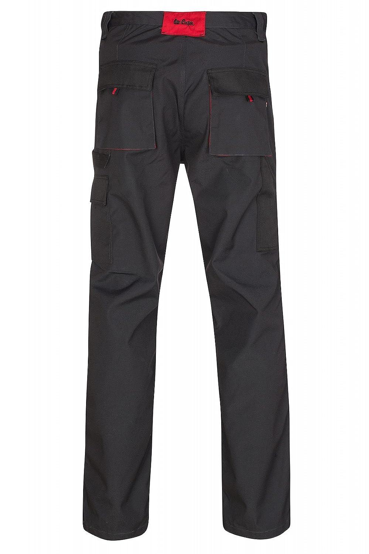 con ginocchia rinforzate Lee Cooper 206 marina Pantaloni da lavoro alla zuava muschio colore nero
