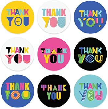 1000 Pieces Thank You for Your Order Stickers Decorative Business Stickers Thank You Stickers Round Circle Label Stickers for Envelope Bag Seals Party Supplies