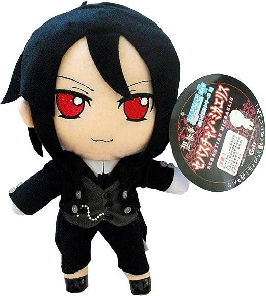 "Kuroshitsuji Black Butler Sebastian Michaelis Anime Figure Plush Doll Toy 10/"""