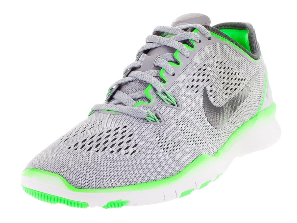 NIKE Women's Free 5.0 Tr Fit 5 Wolf Grey/Dark Grey/VLTG Green Training Shoe (10)