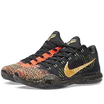 Nike Mens Kobe X Elite Low Xmas, XMAS-BLACK/METALLIC GOLD-BRIGHT