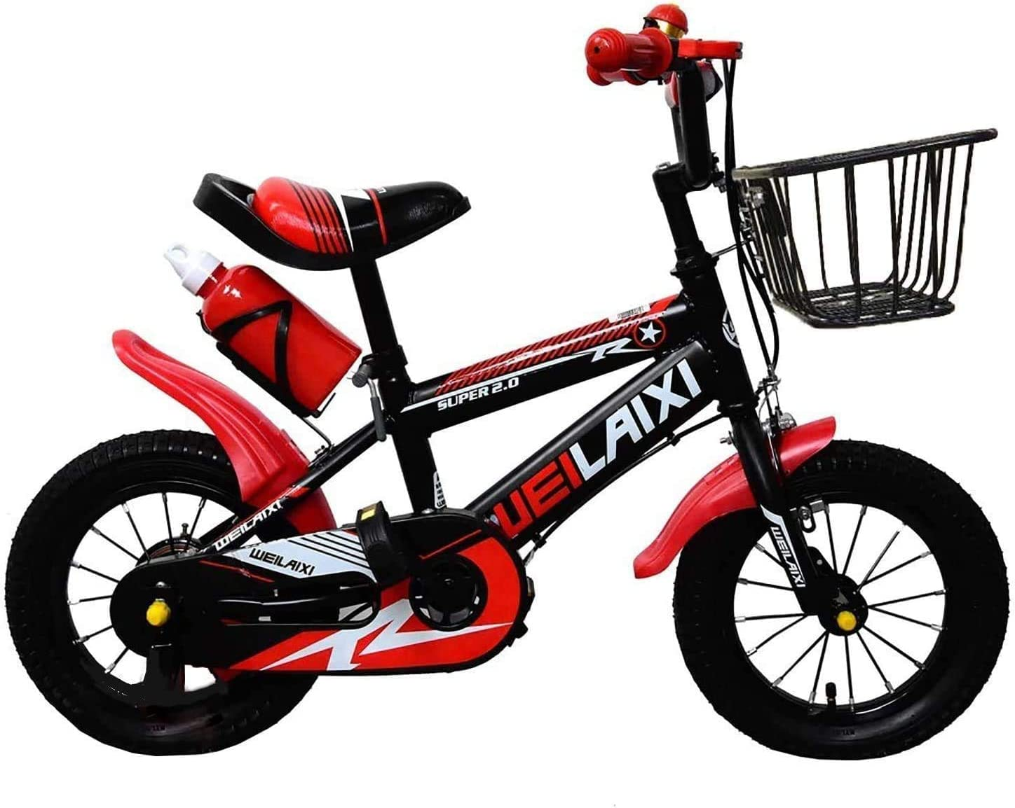 Air Tires and Brakes Mountain Sport Edition Training Bicycle for Children Bikes with Pedal Adjustable Seat /& Handlebar FREE HELMET First Running Balance Bike for Kids with Water Bottle
