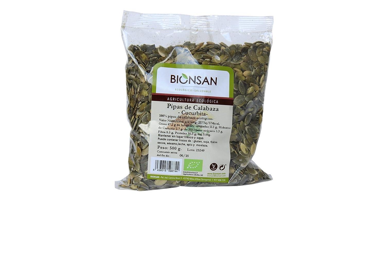 Bionsan Pipas de Calabaza Cucúrbita - 2 Bolsas de 500 gr - Total : 1000 gr