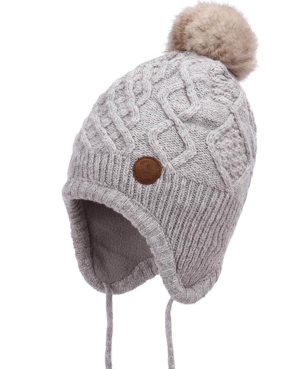 AHAHA Cappello Invernale per Bambina Pompon Cappelli Lavorati a Maglia