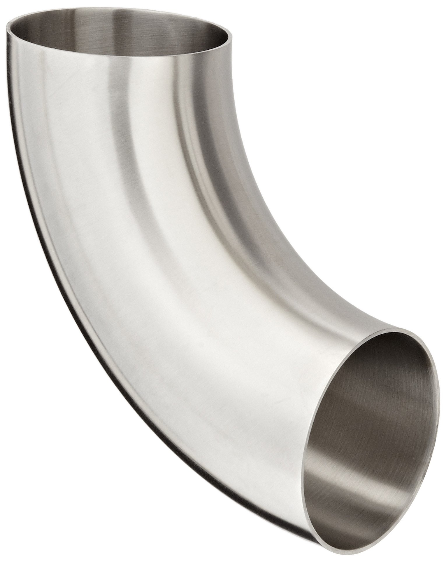 Dixon B2WCL-G300P Stainless Steel 304 Sanitary Fitting, 90 Degree Polished Weld Short Elbow, 3'' Tube OD