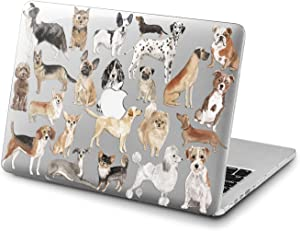 Lex Altern Clear Case for Apple MacBook Air 13 Mac Pro 15 inch Retina 12 11 2020 2019 2018 2017 2016 Puppy Pattern Pug Touch Bar Protective Shell Animal Corgi Doggy Laptop Cover Cute Pets Plastic