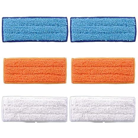 Almohadillas de recambio FollowHeart lavable para iRobot Braava Jet 240 241, rojo, 6pcs