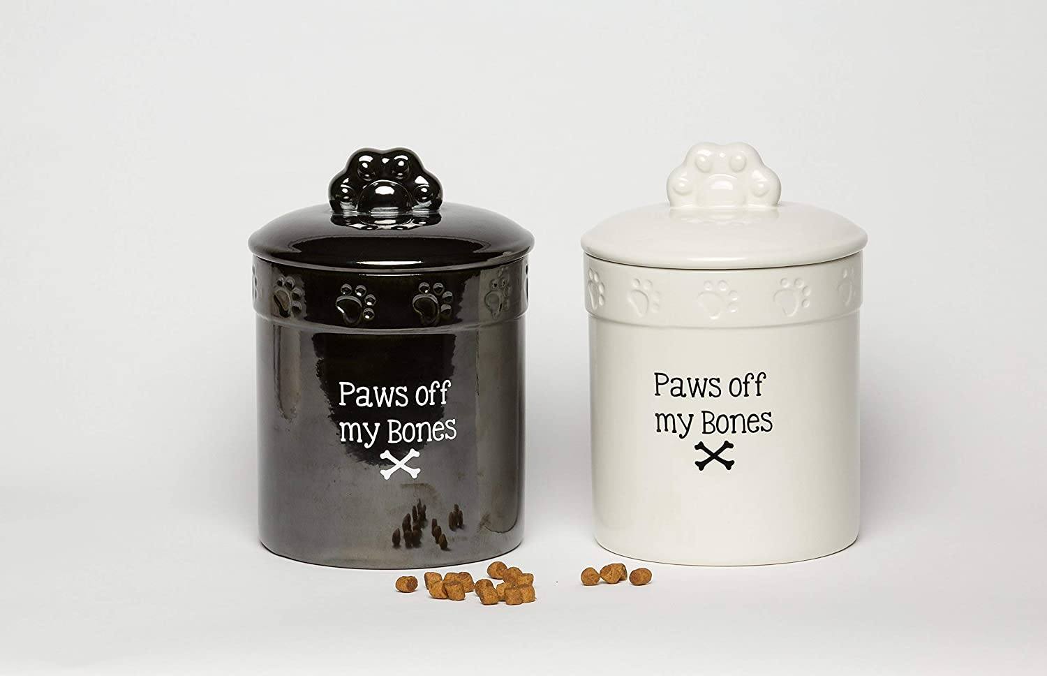 Black Dog Gifts for dog lovers, Dog Treat Jar, Canister with Sealed Lid for Freshness,