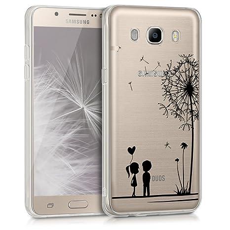 kwmobile Samsung Galaxy J5 (2016) DUOS Hülle - Handyhülle für Samsung Galaxy J5 (2016) DUOS - Handy Case in Schwarz Transpare