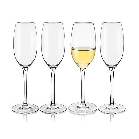 ac1d01c0fec Amazon.com | Unbreakable Champagne Flutes Glasses, 100% Tritan ...