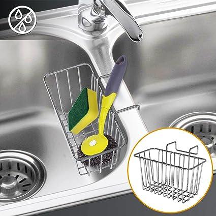 Kitchen Sink Sponge Holder.Sponge Holder Weguard 304 Stainless Steel Multifunctional Sponge