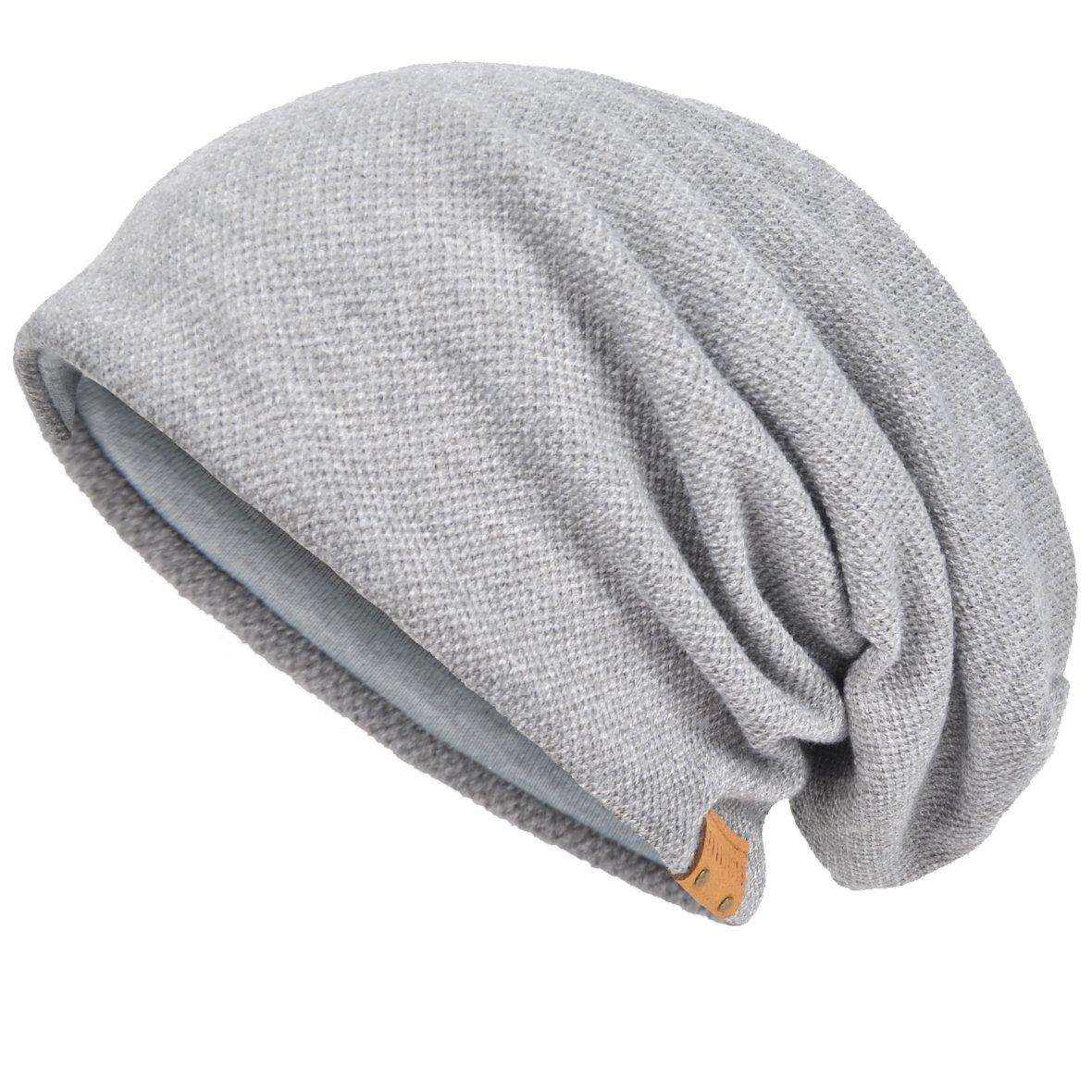 JESSE · RENA Men's Slouch Beanie Skull Cap Lined Oversize Baggy Winter Hat CFB305 CF-B305-MD
