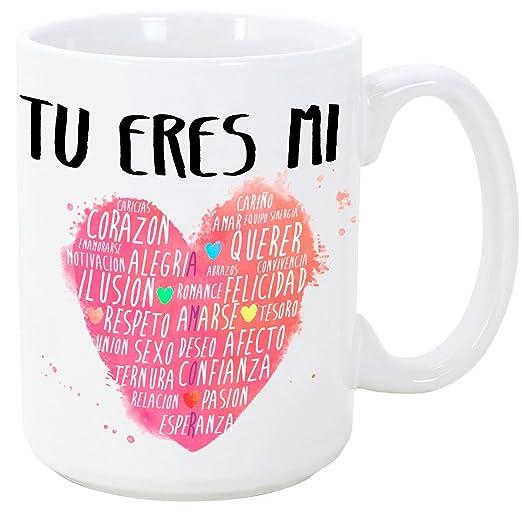 Mugffins Taza Para Enamoradossan Valentín Tú Eres Mi Corazón 350 Ml Tazas Con Frases De Regalo Para Noviosnovias