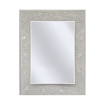Amazoncom Rectangle Bathroom Vanity Mirror With Mosaic Crystal