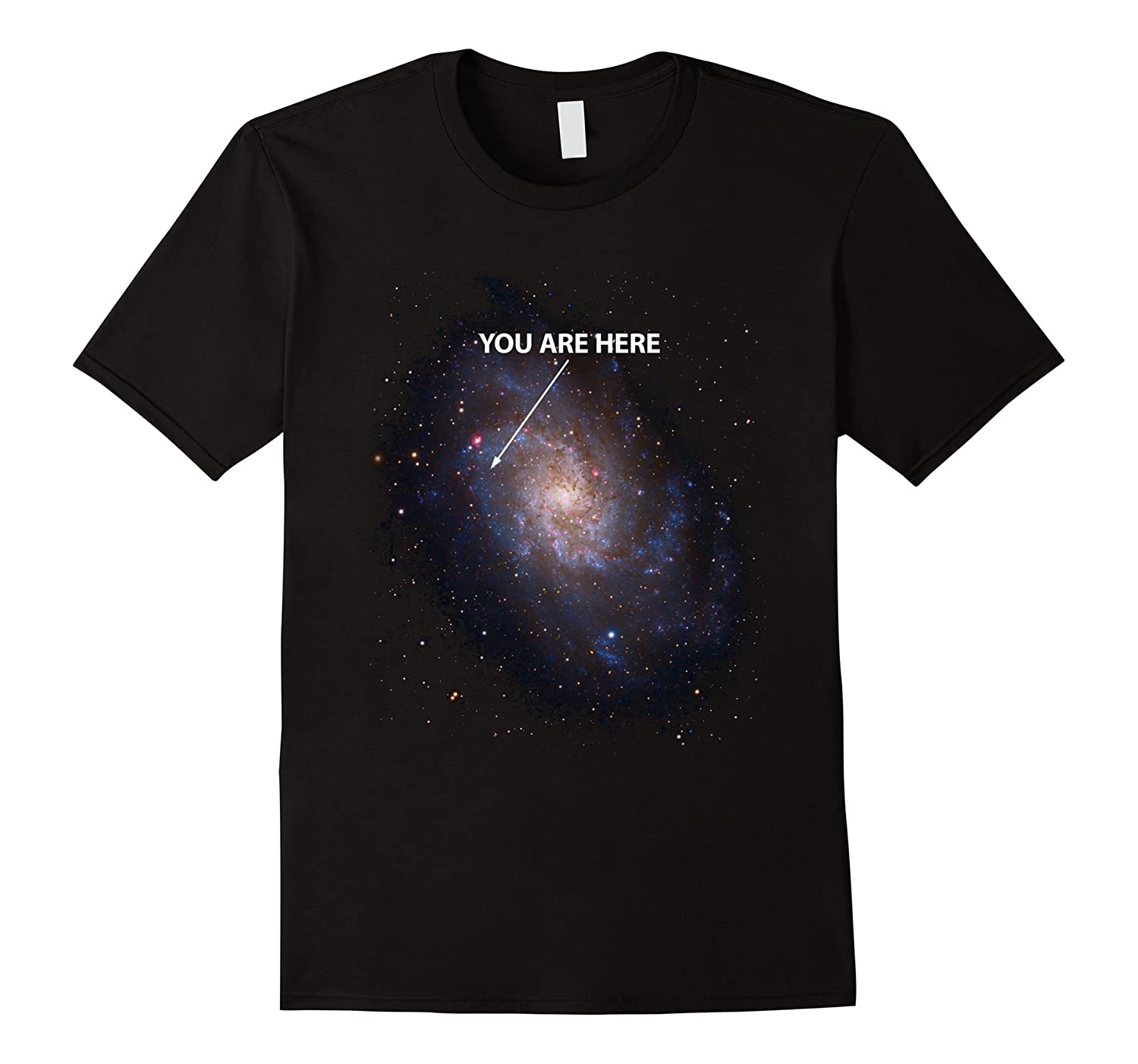 You Are Here T-Shirt Universe Galaxy Space T-Shirt-BN