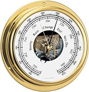 BARIGO Viking Series Ship's Barometer - Brass Housing - 5' Dial