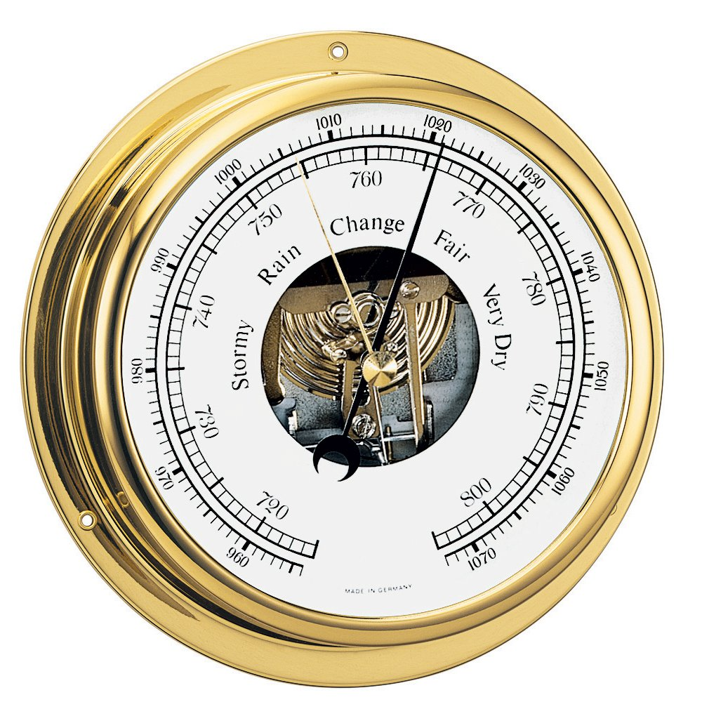 BARIGO Viking Series Ship's Barometer - Brass Housing - 5' Dial 111MS