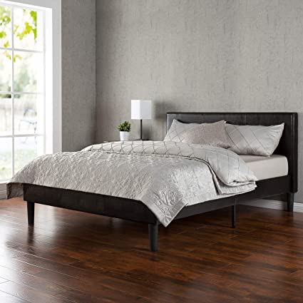 d2d8ec9ae216 Image Unavailable. Image not available for. Color: Zinus Jade Faux Leather  Upholstered Platform Bed ...