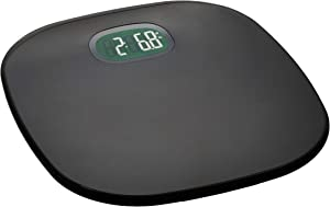 AmazonBasics Digital Body Weight Scale with Auto On/Off Function, Grey