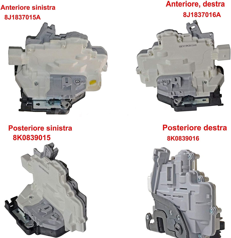 SERRATURA ELETTRICA PORTA ANTERIORE DESTRA A4 A5 Q3 Q5 Q7 TT TOUAREG 8J1837016A