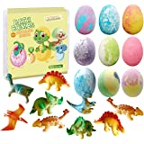 Dino Egg Bath Bomb Gift Set with Dinosaur Inside, 9 Pack Organic Bath Bombs with Surprise Toy Inside, Handmade Fizzy…