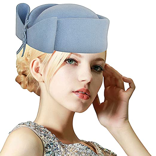 Women's Vintage Hats | Old Fashioned Hats | Retro Hats Lawliet Ladies Teardrop Fancy Wool Fascinator Cocktail Pillbox Hat Formal Racing A253 $27.99 AT vintagedancer.com