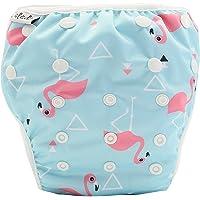 Reusable Swim Nappy Pant Diaper Newborn Baby Toddler Swimming Unisex Boy Girl - Flamingo