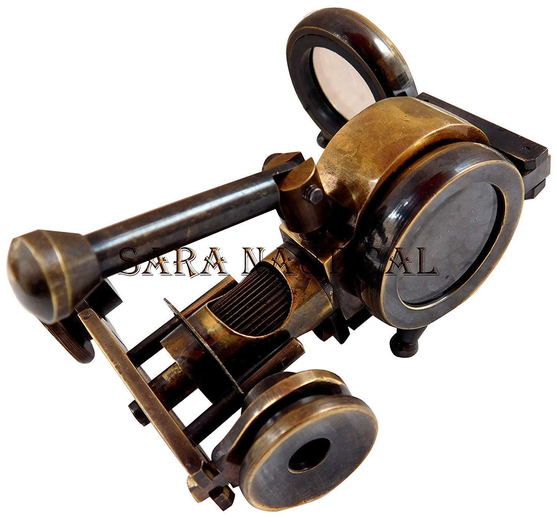 Marine Vintage Antique Brass Binocular with Compass Adjust Marine Spyglass z