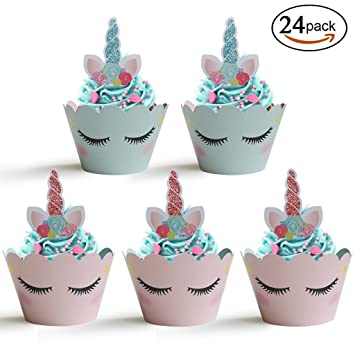 Amazon Unicorn Cupcake Wrapper With Toppers
