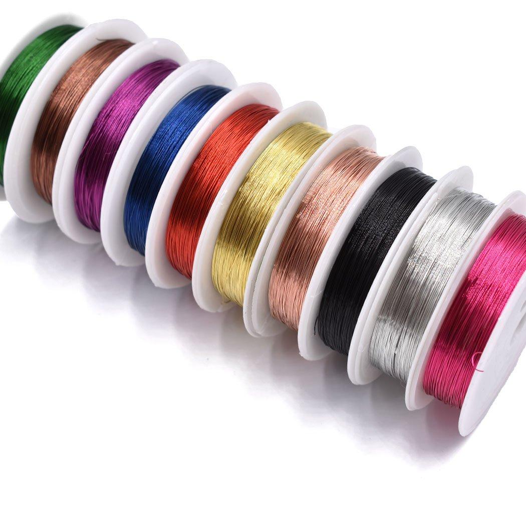 Assorted Colors 0.3 MM銅線ワイヤFly Tyingマテリアルフライフィッシングハンドメイド材料のジュエリー - 10pcs 0.3 - 10colors 10colors B071P9SBJ4, シラカワムラ:25b2d202 --- hasznalttraktor.e-tarhely.info