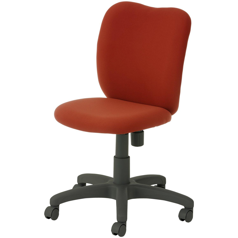 オフィスコム オフィスチェア 事務椅子 布張り 肘なし コムチェア 幅616×奥行616×高さ820~927mm レンガ B07C2QS1WH レンガ レンガ
