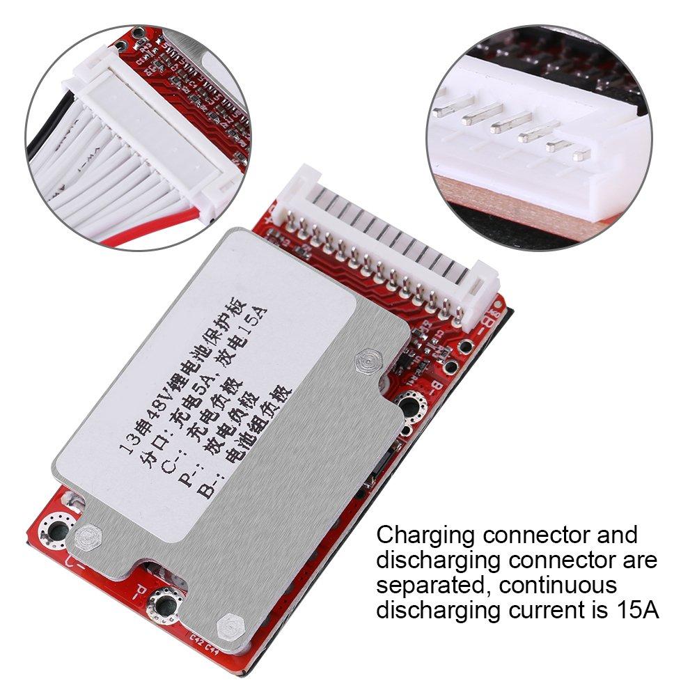 Batterieschutzkarte 54,6V Lithium-Polymer-Lithium-Ionen-Batteriepack-Schutzkarte BMS-Zellschutzkarte PCB 13S 48V