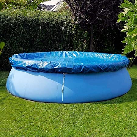8ft sportuli Round Swimming Pool Solar Cover,Durable Dustproof Rainproof Pool Cover for Inflatable Family Pool Paddling Pools