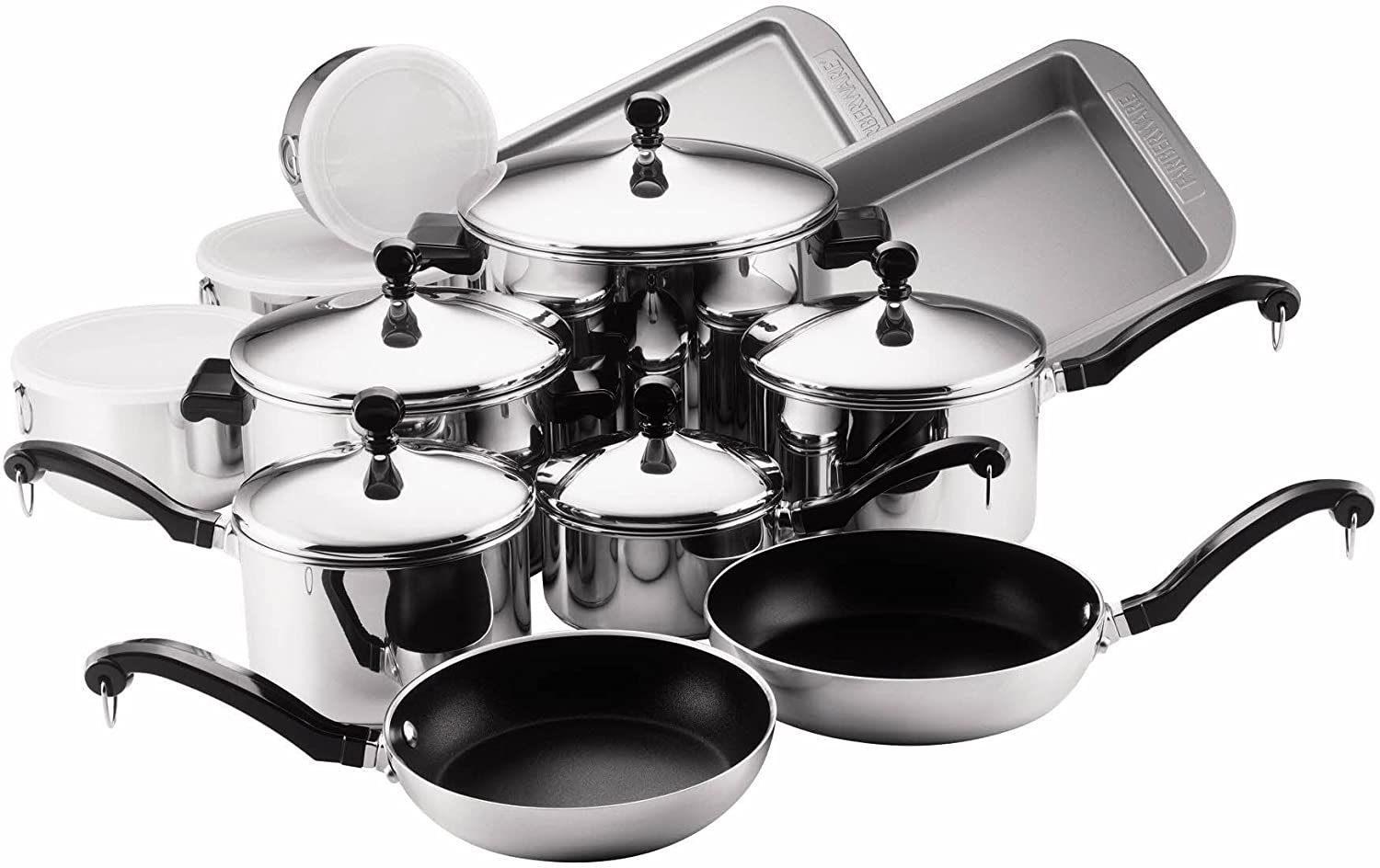 Best affordable stainless steel cookware. Farberware Classic Stainless Steel Cookware Set — 17