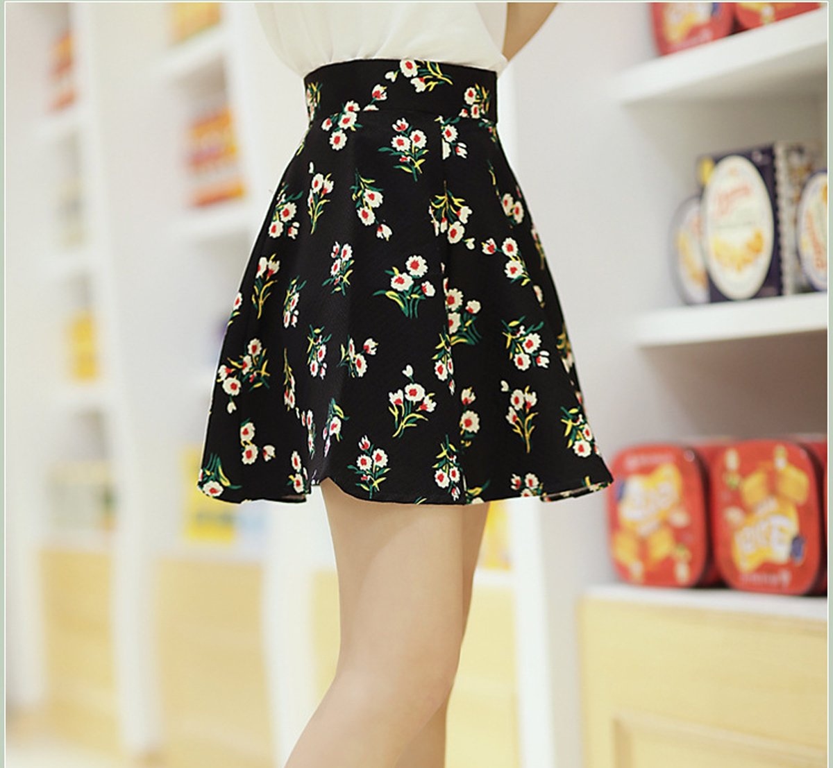 babyHealthy Kpop BTS Love Yourself Her Dress T-Shirt+Floral Skirt Two Piece Suit by babyHealthy (Image #4)