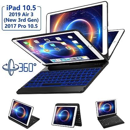 eee1cb65251 iPad Pro 10.5 Keyboard Case Fit iPad Pro 10.5 inch 2017, iPad Air 3rd Gen