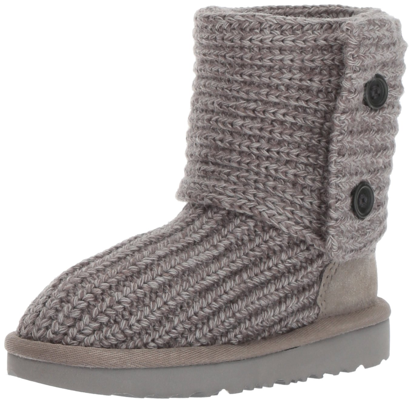 UGG Girls K Cardy II Pull-On Boot, Grey, 5 M US Big Kid
