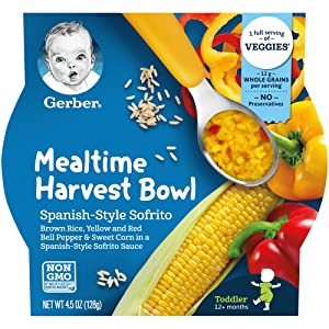 Gerber Up Age Mealtime Harvest Bowl, Oz Spanish Sofrito 36 Ounce