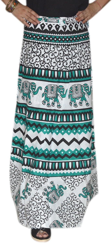 Falda larga india Marusthali para envolver alrededor de faldas ...