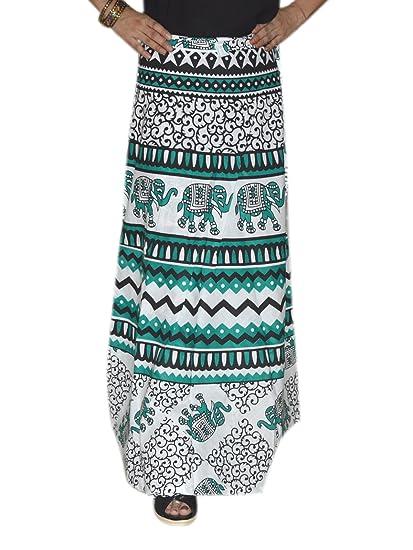 Marusthali Falda larga india envolver alrededor de faldas hippie ...
